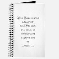 MATTHEW 26:10 Journal