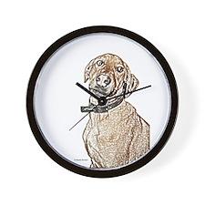 Brown Dog (sketch) Wall Clock