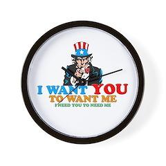 I WANT YOU Wall Clock