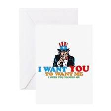 I WANT YOU Greeting Card