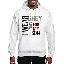 I Wear Grey Son Jumper Hoody