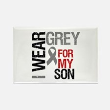 I Wear Grey Son Rectangle Magnet