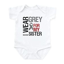 I Wear Grey (Sister) Infant Bodysuit