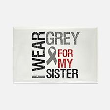 I Wear Grey (Sister) Rectangle Magnet