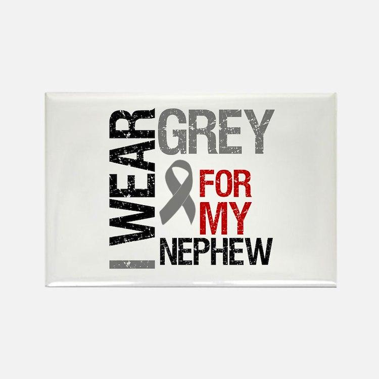 I Wear Grey Nephew Rectangle Magnet