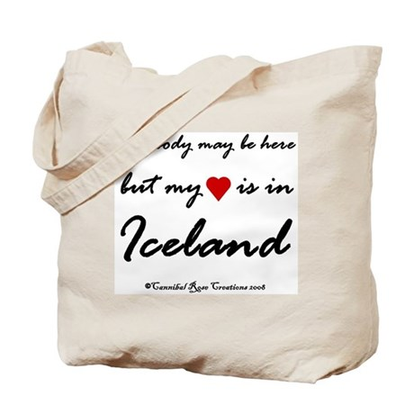 Iceland My Heart Tote Bag