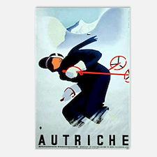 Austria Skiing Skier Postcards (Package of 8)