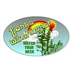 Forks Washington Twilight Oval Sticker