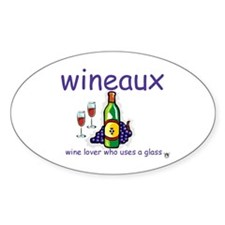 Wineaux Oval Decal