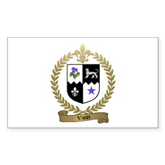 VIOLET Family Crest Rectangle Decal