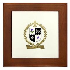 VIOLETTE Family Crest Framed Tile