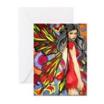 60's retro fairy Greeting Cards (Pk of 10)