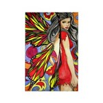 60's retro fairy Rectangle Magnet (100 pack)