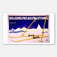 Bavarian Alps Skiing Rectangle Decal