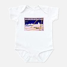 Bavarian Alps Skiing Infant Bodysuit