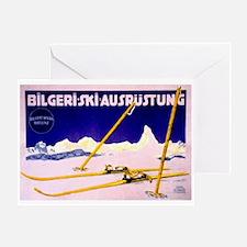Bavarian Alps Skiing Greeting Card