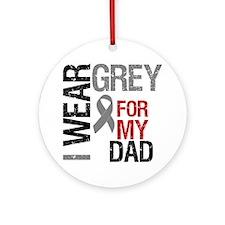 I Wear Grey Dad Ornament (Round)