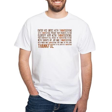 White T-Shirt Thankful