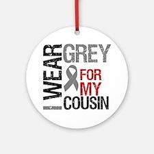 I Wear Grey Cousin Ornament (Round)