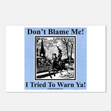 """I Warned Ya"" Postcards (Package of 8)"