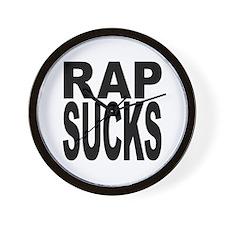 Rap Sucks Wall Clock