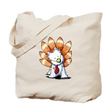 Thankful Turkey Westie Tote Bag