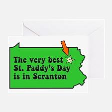 Scranton St Patricks Day Parade Greeting Card