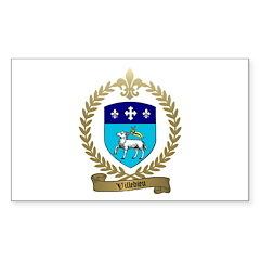 VILLEDIEU Family Crest Rectangle Decal