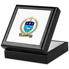 VILLEDIEU Family Crest Keepsake Box