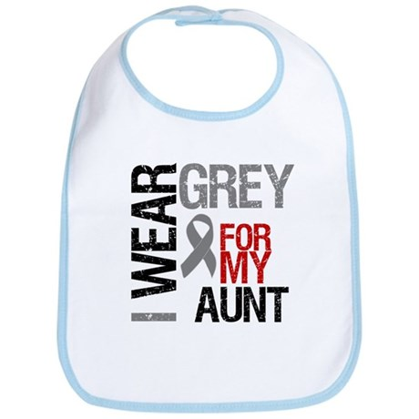 I Wear Grey Aunt Bib