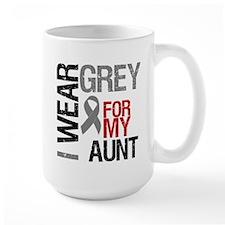 I Wear Grey Aunt Mug