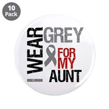 """I Wear Grey Aunt 3.5"""" Button (10 pack)"""