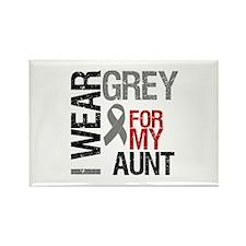 I Wear Grey Aunt Rectangle Magnet