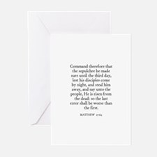 MATTHEW  27:64 Greeting Cards (Pk of 10)
