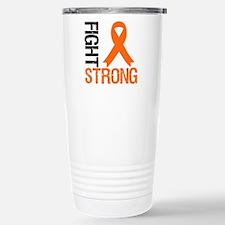 FightStrong OrangeRibbon Travel Mug