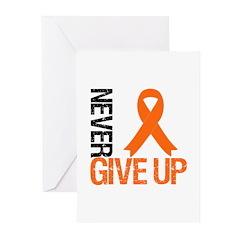 NeverGiveUp OrangeRibbon Greeting Cards (Pk of 10)