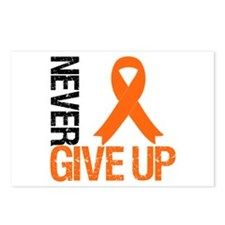 NeverGiveUp OrangeRibbon Postcards (Package of 8)