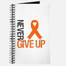 NeverGiveUp OrangeRibbon Journal