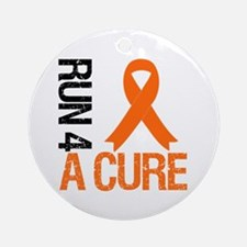Run4ACure OrangeRibbon Ornament (Round)