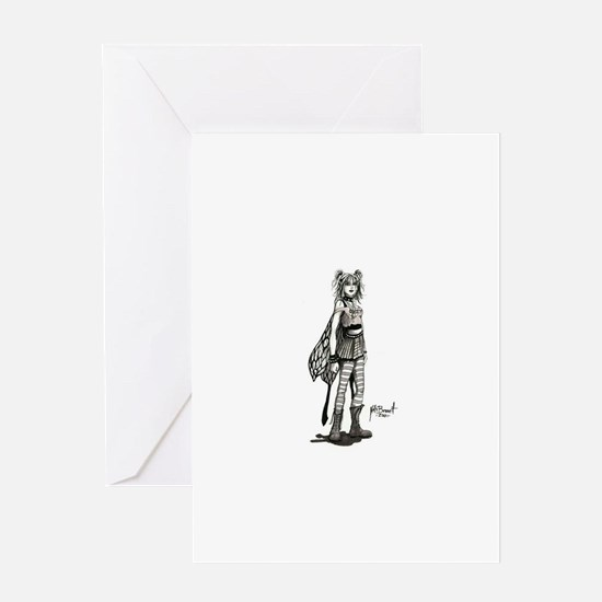 Combat boot fairy Greeting Card