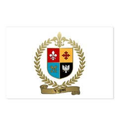 VIGNOT Family Crest Postcards (Package of 8)