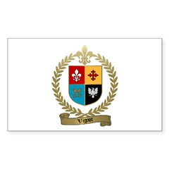 VIGNOT Family Crest Rectangle Decal