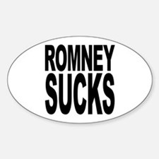 Romney Sucks Oval Decal