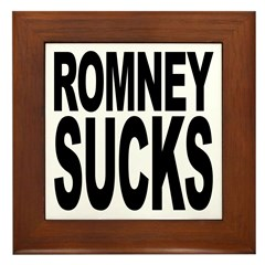 Romney Sucks Framed Tile