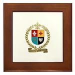 VIGNEAU Family Crest Framed Tile