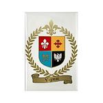 VIGNEAU Family Crest Rectangle Magnet (100 pack)