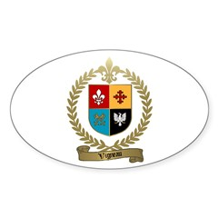 VIGNEAU Family Crest Oval Decal