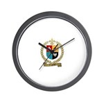VIGNEAU Family Crest Wall Clock