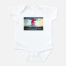 French Alps Skiing Infant Bodysuit