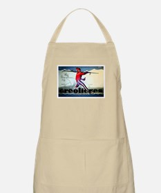 French Alps Skiing BBQ Apron